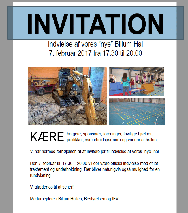 åbent hus invitation